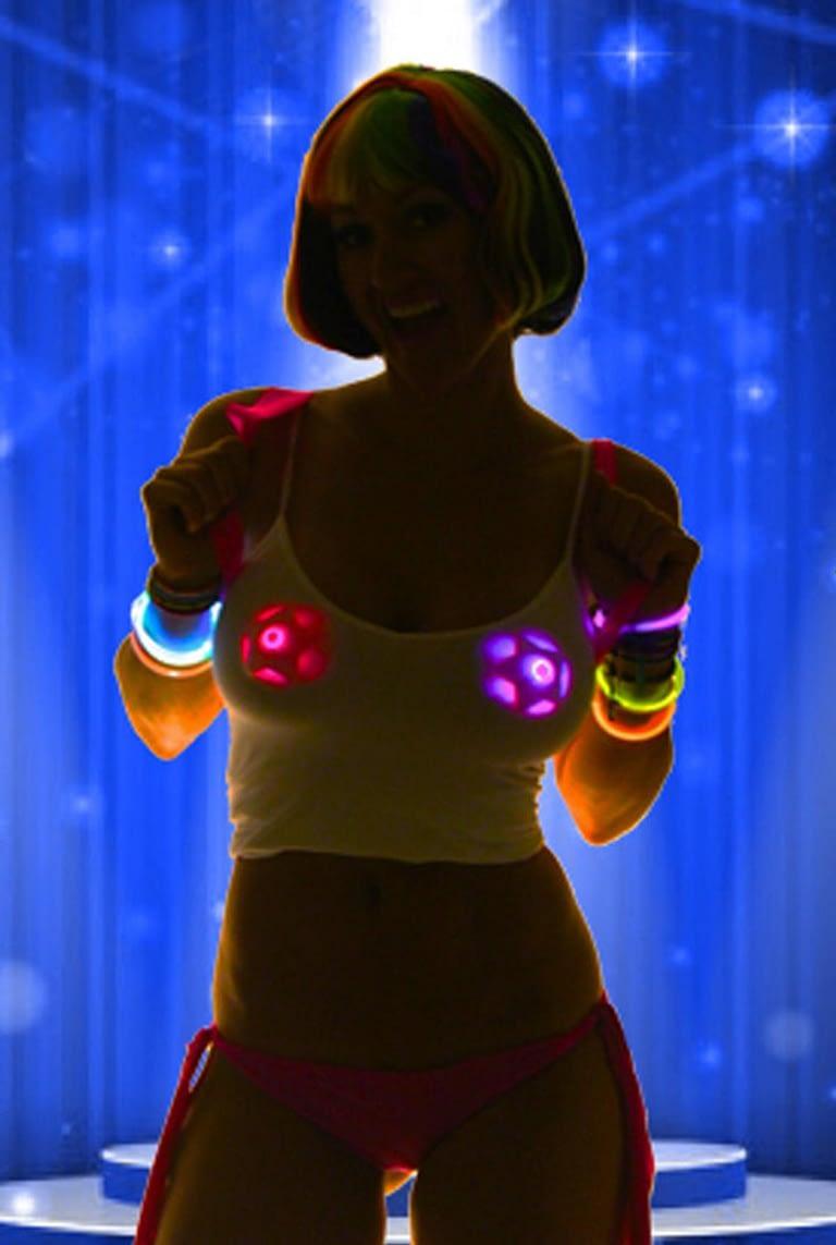 Light up star nipple pasties